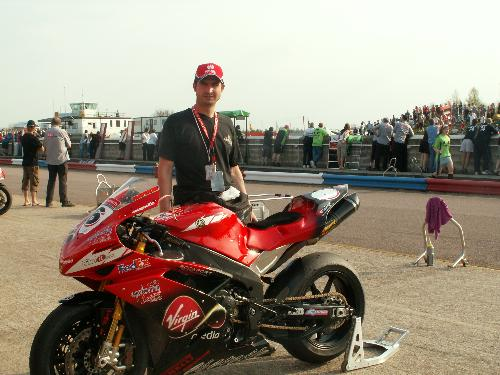 Me and the R1 - This was taken at BSB Thruxton Races