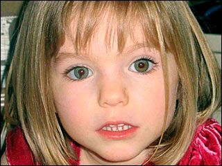 Madeleine McCann  - Missing child, Madeleine McCann, age 4.