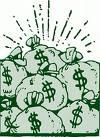 money bags - a pile of money