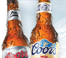coors - new label shows when beer is cold enough to drink