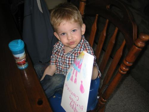 My son, the messy eater! - My 2 year old son, the messy eater!