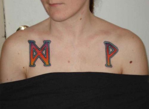 runic tattoos. Tattooed runes