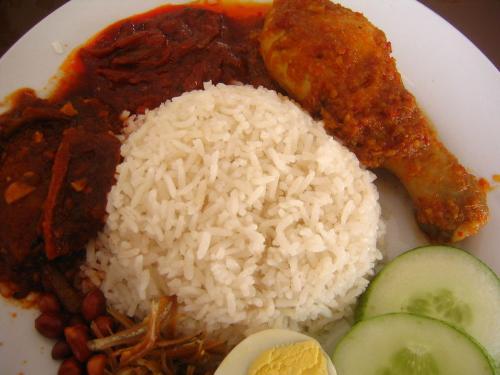 Nasi Lemak - The traditional dish of Malaysia. Every Malaysian loves Nasi Lemak!
