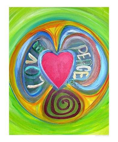 Love & Peace Poster - Love Peace by Barbara Aliaga