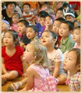 the children come from everywhere and gather in th - the children come from everywhere and gather in the kindergarten, shanghai