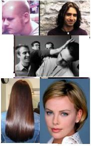 hair - lon and short hair
