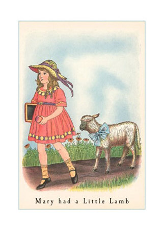 "Mary had a little lamb - Who knew that this simple rhyme would become such a hit? ""Mary Had a Little Lamb"" was published on this date in 1830 by Sarah Josepha Hale. She was said to have based the rhyme on an actual incident: one day, a young girl named Mary Sawyer took a lamb to her school in Sterling, MA. The poem became instantly popular and Hale went on to write nearly 50 novels and books of poetry, and became the first female magazine editor, editing Godey's Lady's Book. Thomas Edison recited ""Mary Had a Little Lamb"" in testing his new invention, the phonograph, in 1877."