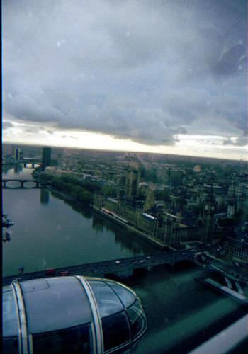 London Eye - This is the view from the top of the London Eye.