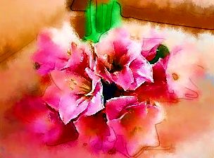 wedding bouquet, painting - painting, water color, bouquet of flowers,