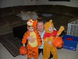 Halloween - Picture of me and my boys all dressed up!