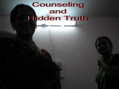 Counseling and Hidden Truth - This image is expressing the dark side means the hidden side,hidden truth, which needs to open up and lightenin thereality as well as the fact oflife has to accept for the betterment of the life!