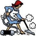 House cleaning picture - Thought this lady with the vacuum cleaner looked like me always vacuuming.