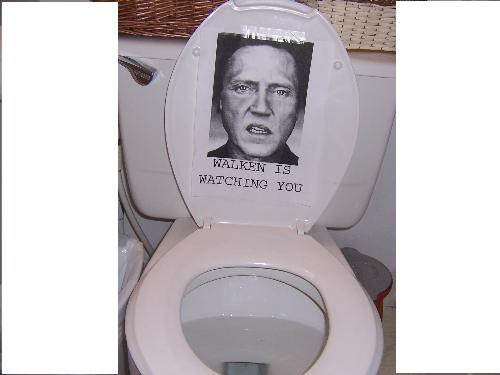 Christopher Walken Toliet prank - This was the best prank ever. I laughed so hard that I was glad I was near the toilet.