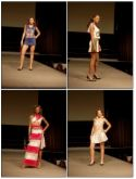 Models displaying the dresses - fashion shows