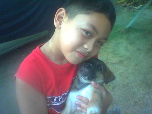 he's not gay he is just cute :) - my little bro