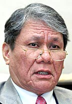 This is a foto of Malaysia Judge Leader - Tun Ahma - This person which selected from two other judge who handling Lina Joy Chase.