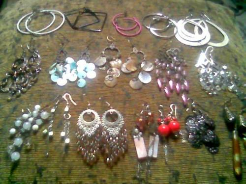 earring collection - these are some of my earrings collection..