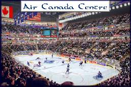 Air Canada Centre - Air Canada Centre when the Toronto Maple Leafs are playing, sadly to say, probably losing.