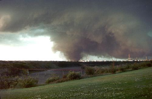 The Tornado - Near refinery row in Edmonton, AB.