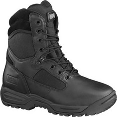 Magnum Storm II Boots - Magnashield full-grain all over leather. 1150 Denier nylon upper. Compression-molded EVA midsole. Waterproof. Gusseted tongue. Lightweight heel stabilizer board with strobel forefoot construction. Cambrelle moisture-wicking lining. Bluecher lace system. 3D2 max-comfort contoured insole. Slip/oil resistant outsole.