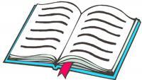 a photo of a book - a photo of a book with a red bookmark