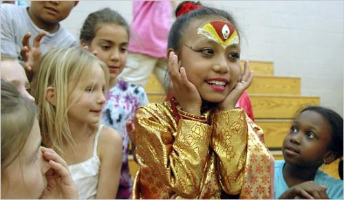 Child Goddess  - Photo of Sajani Shakya's visit to the US.