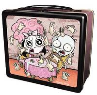 Roman Dirge Open Jugular Cheesecake Lunch Box - Roman Dirge's darkly strange imagination has captured a generation's twisted sensibilities. Metal with companion thermos, it's what all the spooky kids are carrying to school!