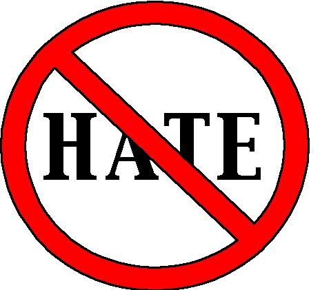 hate - it is not good to hate