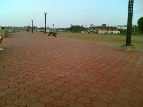 The park - Park with brick pathways