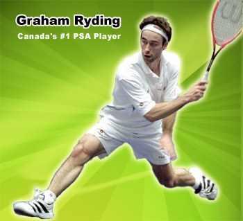 Pace Canadian Squash Classic - Graham Ryding is now Canada's #1 player as Jonathon Power has sadly retired