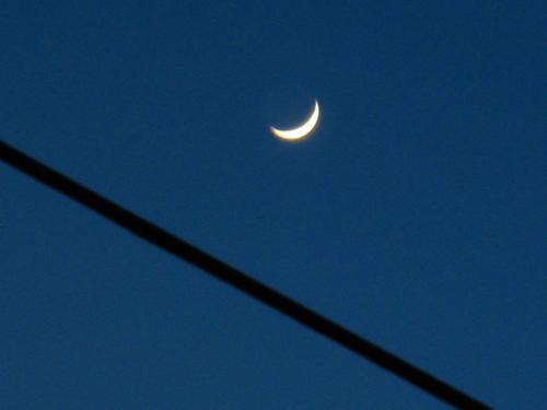 Crescent - Taken Monday about 5 or 6 p.m.