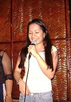 singing in a bar - singing in a bar together with the live performer. ^__^;;