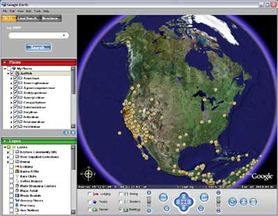 MyLot Users On Google Earth! - MyLot users can now put themselves on google earth with this new social mapping feature created by frappr.