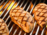 grilled meat - the meat is grilled at the griller, and in this way the taste of the meat really improves especially f you marinate it the taste of the mixtures put in really enhance thus giving it the taste of contentment..