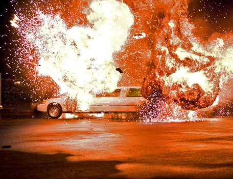 Limo explosion - Vince McMahon limo explosive. Is it real?