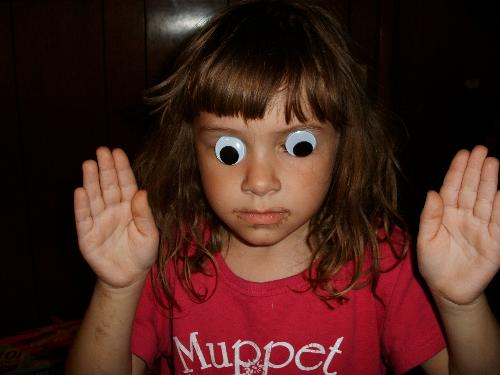 Girl with Googly Eyes - These discussions make my eyes look like this!