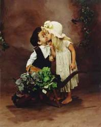 boy and girl - boy and girl kissing