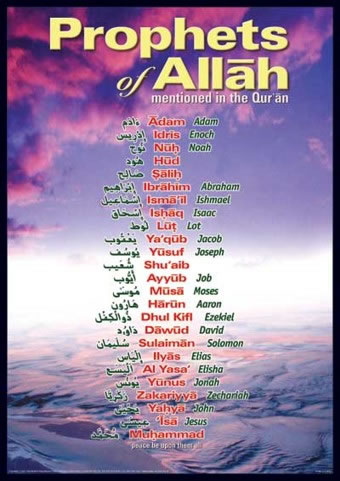 Important Muslims - This shows that many of the inportant people from the Quran are also in our christian Bible.