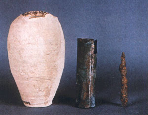 Babyloninans Power Battery - The Baghdad Battery, dating from between 250 BC and 250 AD.