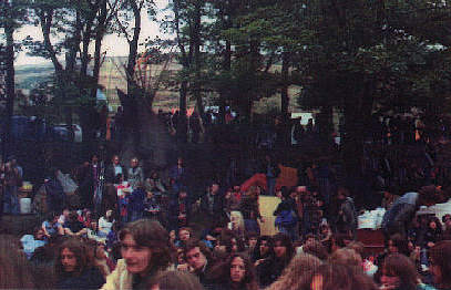Crowd at the concert - Note the wigwams in the backgound?