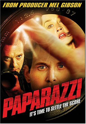 Paparazzi - DVD sleeve of the 2004 production starring Cole Hauser, Robin Tunney, Dennis Farina, Tom Sizemore, Daniel Baldwin and Kelly Carlson