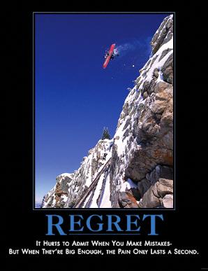 Regret - I regret doing this ... (///.)