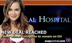 Natalia Livingston - Emily Quartermaine to stay.