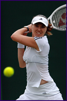 Martina Hingis at Wimbledon 2007 - Hingis in the 1st round.