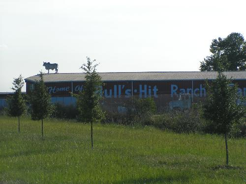 "Amusing name on ranch barn - This ""ranch"" is really a potato farm. They make potato chips which they call Bull's Chips! It is located about 30 miles from where I live. The area is called the potato capital of Florida."
