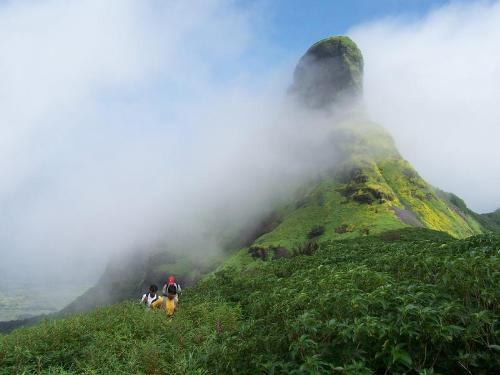 tropical mountain - the highest mountain top of the mountain range where it cannot be reached by foot