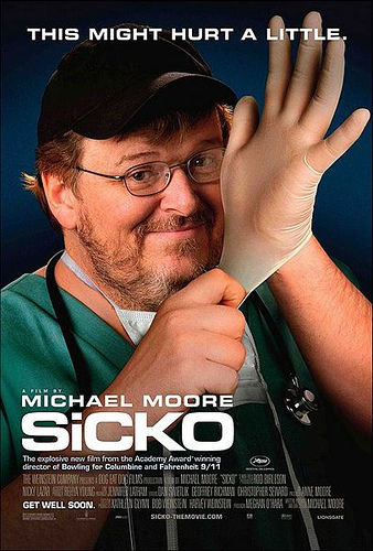 Sicko the Movie - this is an image of Michael Moore's movie Sicko