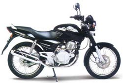 Pulsar 200 cc - Pulsar 200cc has a best look among all the bikes in our country, Vey goo initial pick up alloy wheels, digital speedometer.It looks like a race bike, only draw back is mileage, very low as about 35km/ litre. Black magis witha oilcooled engine is amaging too, I need a mile age so i couldnt buy that.