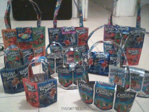 Koolaid Jammer or caprisun handbags - How tired I am right now. These are ten of my favorites.