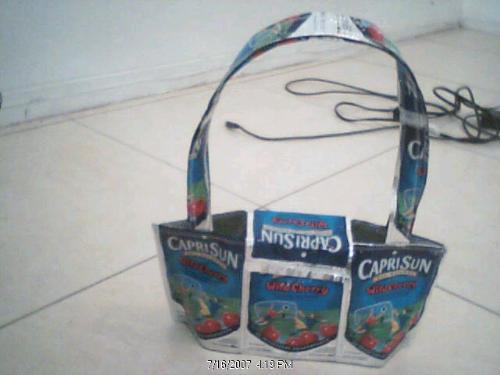 Capri sun handbag - I love making these handbags